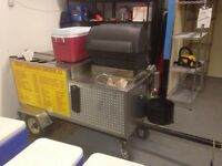 Hotdog cart for rent  Hot dog training available