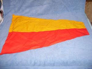 Vintage cotton Flag Yacht  Ship Pennant Number 7