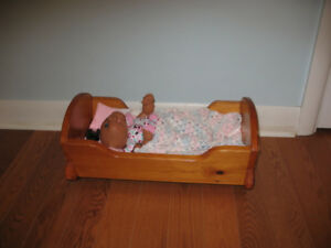 CABBAGE PATCH DOLL & CRADLE