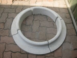 1/4 Circle Cement Castings x 4