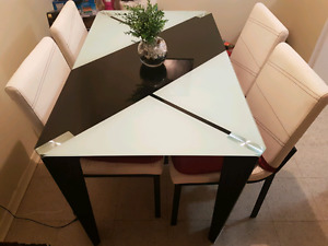 Glass Top Dinning Room Table Set OBO
