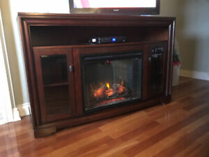 Beautiful Electric Fireplace and wall unit/TV