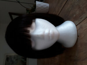 Human hair wig never  worn.  Brunette bob.
