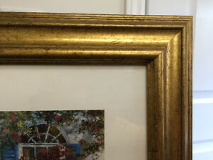 "Collectible Antique ""The Open Door"" Framed Print By Tan Chun London Ontario image 5"