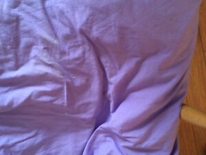 REVERSIBLE LILAC/ VIOLET QUEEN DUVET COVER & MATCHING PILLOW CAS