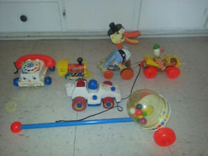 Vintage Fisher Price Pull toys.............