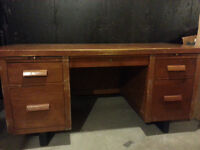 Solid maple desk, with matching chair.