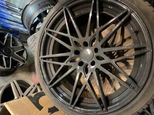 4 x Bmw x5 x6 mag 22 pouces + pneus NEUF jamais roulé