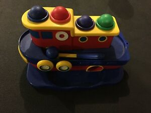 Tugboat toy for toddler - Learning toy