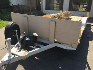Flatbed dual axel trailer with 3000lbs. Winch Belleville Belleville Area image 4