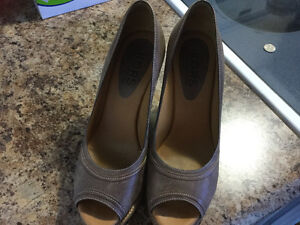 Authentic Michael Kors brown wedges