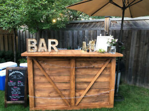 Rustic Pallet Bars & Accessories For Sale Or Rent