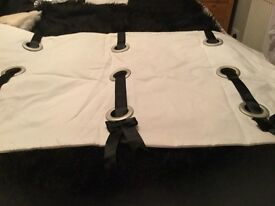 2 very unusual straight window pelmets white and black