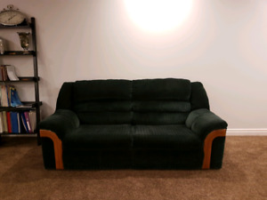 Green Fabric Hide-a-bed Couch