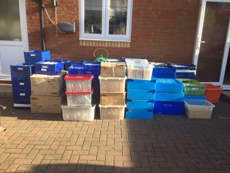 Job lot, over 1000 glasses. ideal ifor parties or weddings