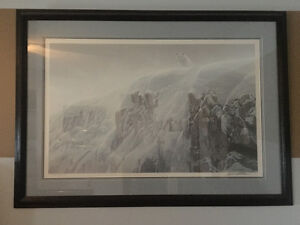 Original framed Robert Bateman - Artic Wolf