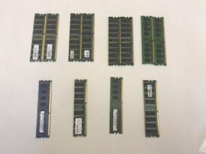 VARIOUS COMPUTER RAM MEMORY STARTING FROM $5 EACH SET