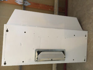 """broan white 30"""" standard over the rage exhaust system light fan"""