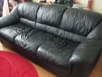 Leather couch - black