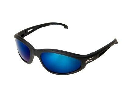 Edge Eyewear TSMAP218 Dakura Polarized Glasses Black/Aqua Precision Blue (Edge Polarized Glasses)
