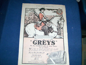 VINTAGE 1917 FULL PAGE ADVERTISEMENT-THE GREYS-WOMAN TROOPER