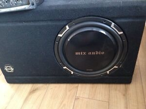 "12"" mtx. Audio sub with box"