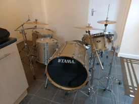 Tama Superstar Limited Edition Gold Sparkle Drum Kit and many extras