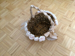 Wooven wood basket