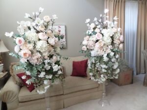 Wedding Flower Arrangements ( Artificial 6 ft tall )