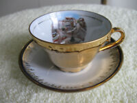 BEAUTIFUL LITTLE BAVARIAN  [stamped]  DEMI-TASSE CUP & SAUCER