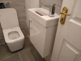 Wall Hung Basin Vanity Unit Gloss White