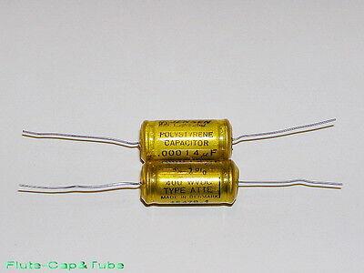 2x 0.01uF 10nF 630V  PIO Audio Capacitor  USSR  Crystal Sound  K40Y-9  K40U-9