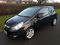 VAUXHALL CORSA 1.2i 16v (A/C) SXi - 3 DOOR - 2009 - BLACK ** LOW MILES **