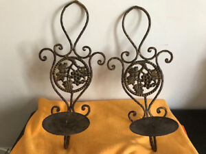 Iron Wall Candle Holders