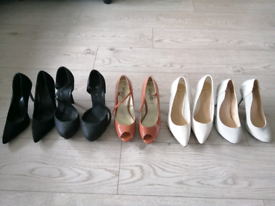 5 pairs of shoes size 6