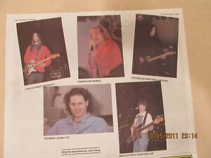 THE TRAGICALLY HIP – Newspaper insert from 1991. Kingston Kingston Area image 3
