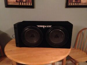 Complete sub and amp set up.