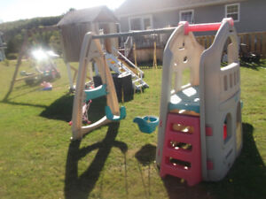 Swing ,Slide and Playhouse Climber