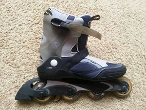 Men's Roller Blades and Wrist Guards