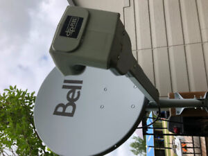 Bell satellite dish and mount
