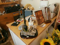 Large Cute Cat and Dog Figurine at KeepSakes Antiques