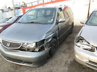 1999 Honda Odyssey MiniVan for sale for parts as is!