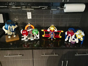 4 Collector M&M Dispensers - outstanding condition!