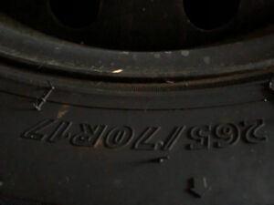 Snow tires  with rims in very good condition