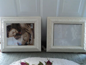 Two Decorative Wooden Picture Frames