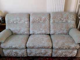 Park Furnishers reclining 3 seater sofa and 2 armchairs