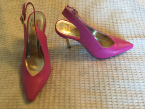 Never Worn. Cute Bright Pink size 7 shoes