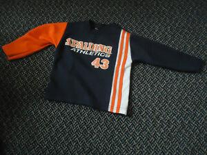 Boys Size 4 Long sleeve Spalding Jersey