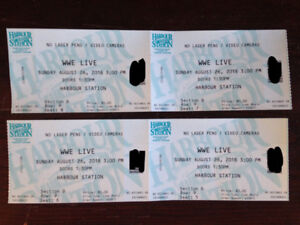 For Sale - 4 Tickets to WWE Wrestling Live at Harbour Station