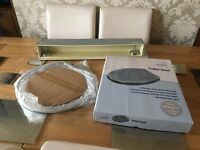 BRAND NEW Silver glitter bathroom accessories - toilet seat, mirror & towel rail